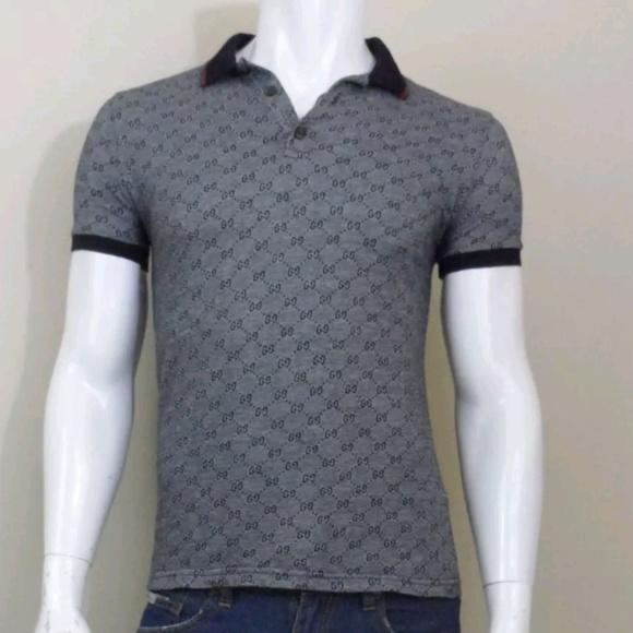356c549004e Gucci Other - Gucci Mens Short Sleeve Web Monogram Polo